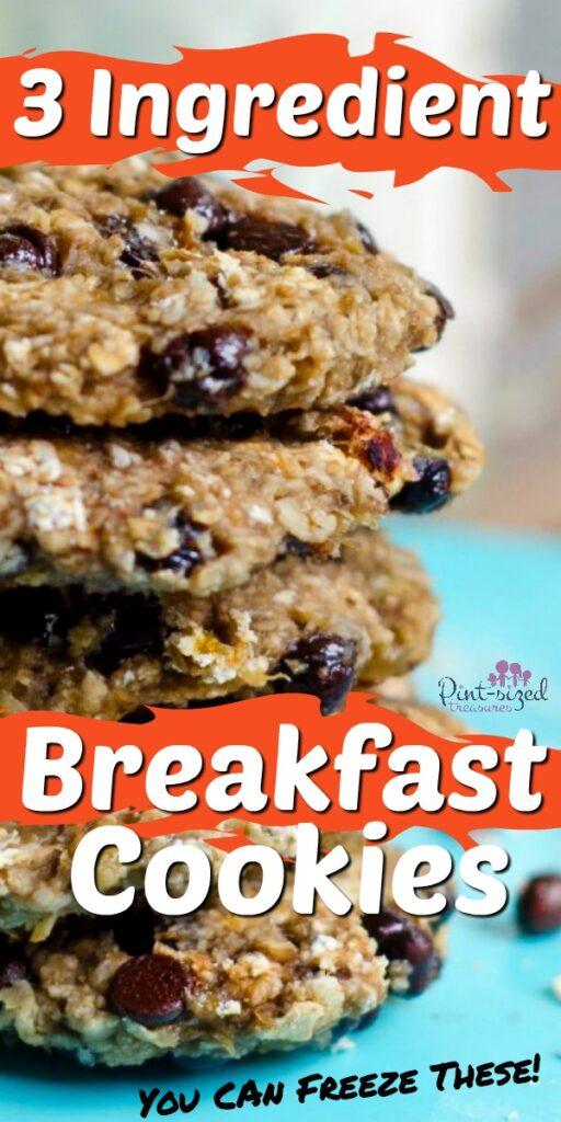 three ingredient breakfast cookies