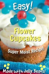 easy flower cupcakes