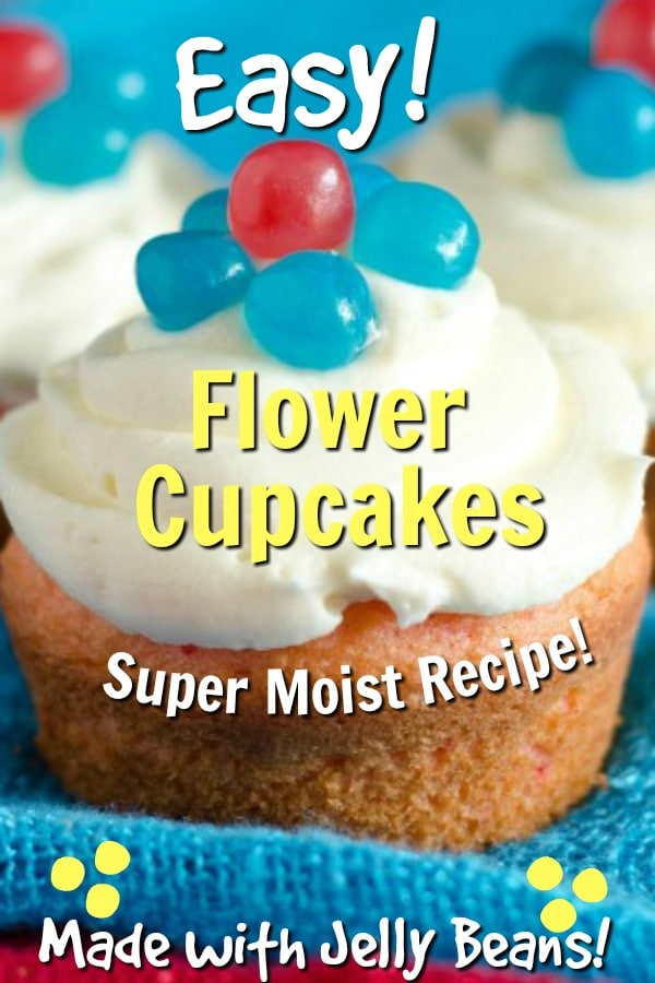 Flower Cupcakes Made with Jelly Beans