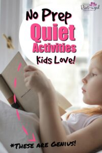 no prep quiet activities for kids