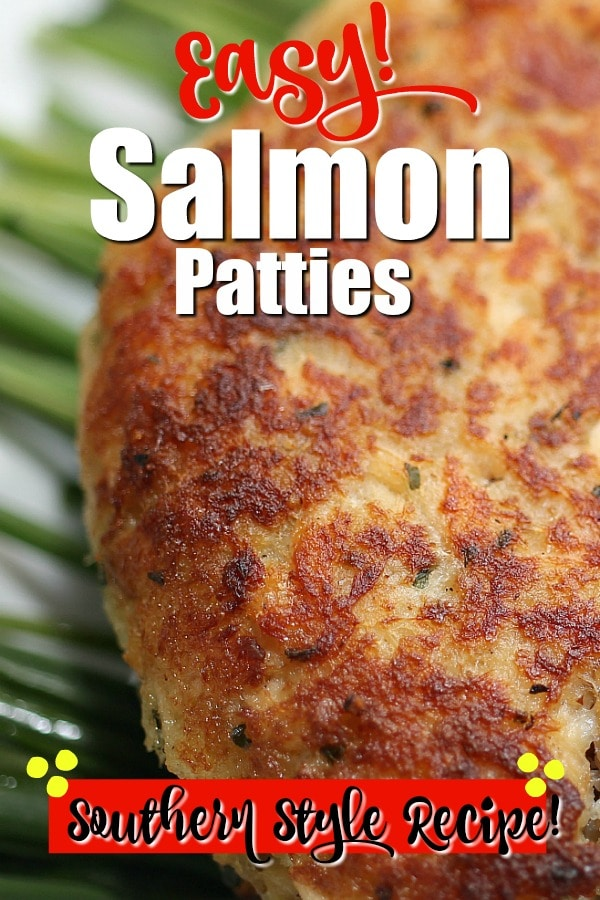 salmon patties on serving plate