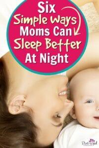 moms sleep better at night