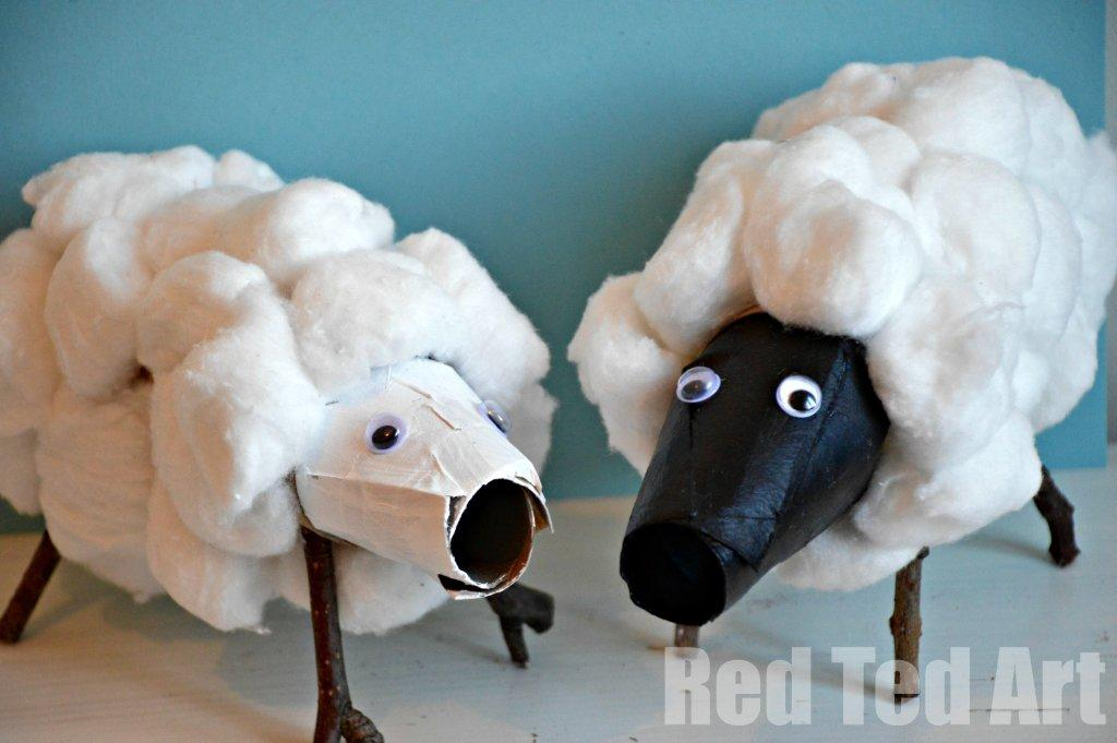 paper roll sheep craft