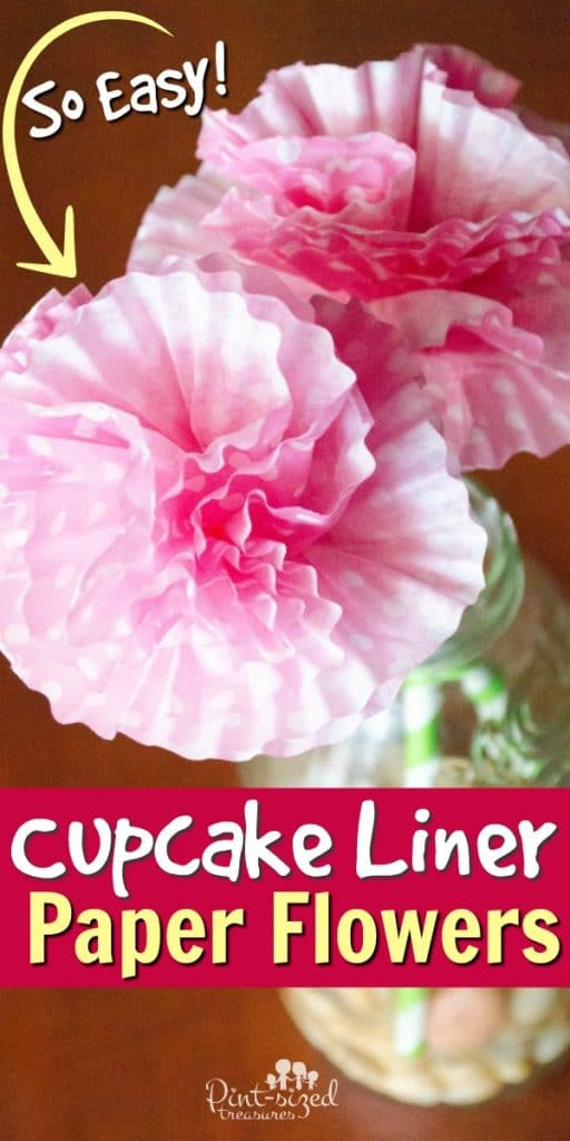 paper flower craft from cupcake liners