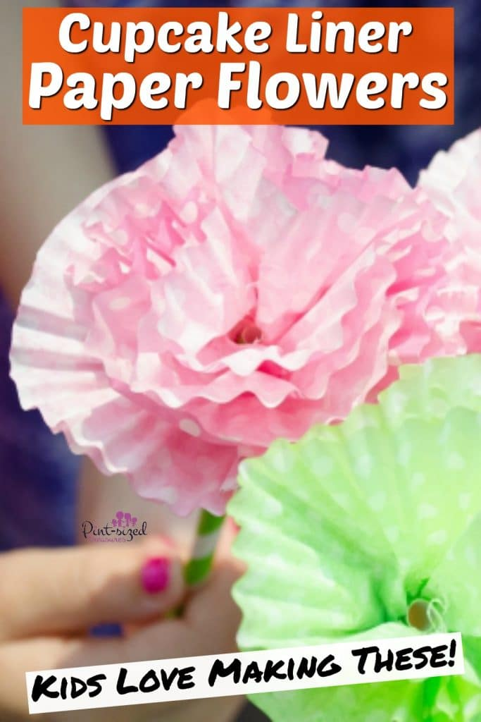 how to make cupcake liner paper flowers