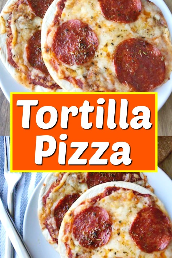 easy tortilla pizza recipe