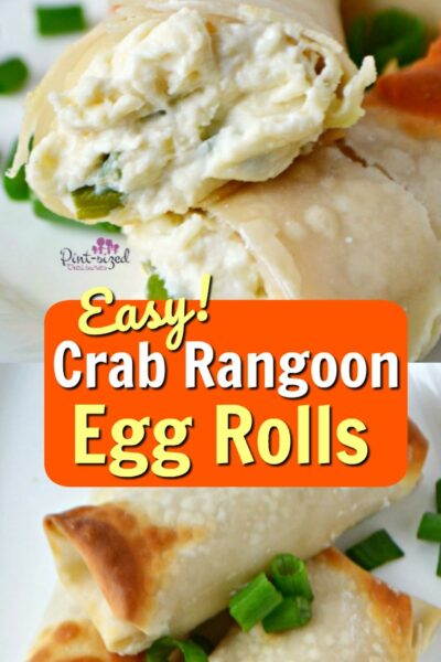 Easy crab rangoon egg roll recipe