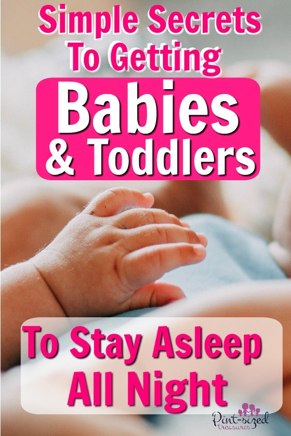 how to teach babies and toddlers to sleep all night