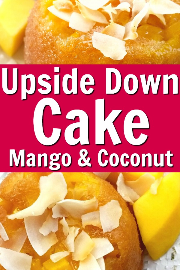 upside down cake recipe with mango and coconut