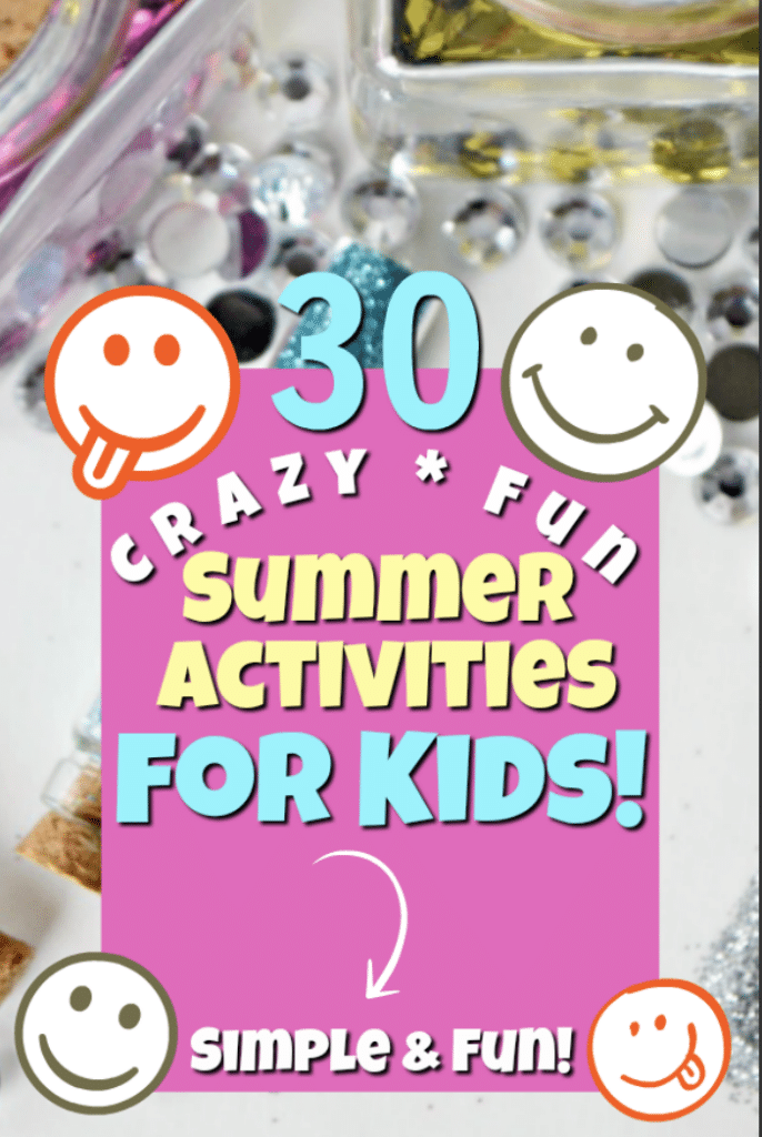 glitter for summer activities for kids
