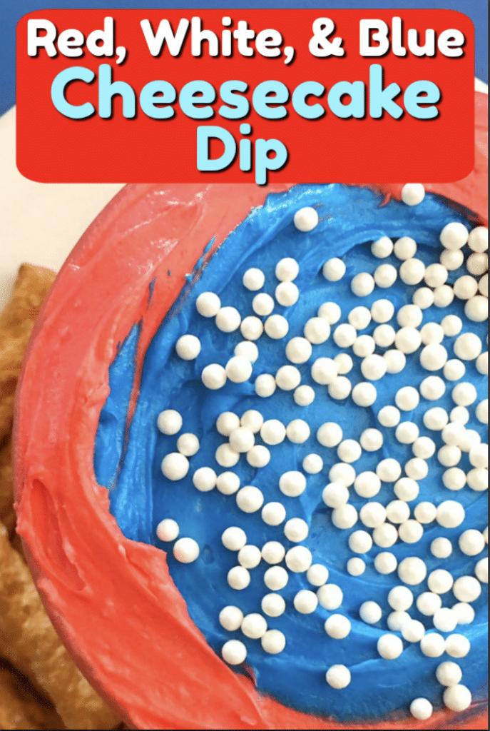 Easy Patriotic Cheesecake Dip