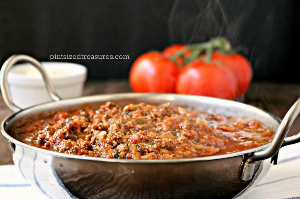 bolognese made with ground beef