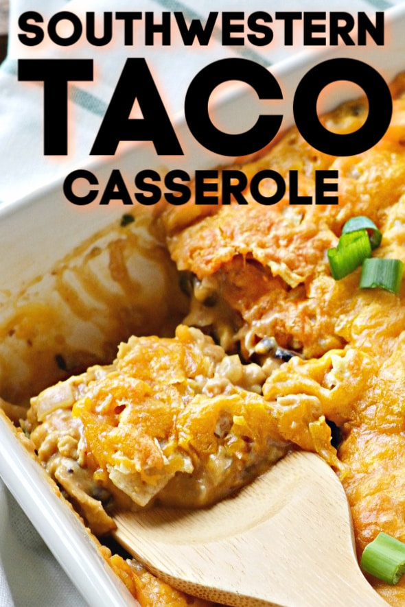 serving the southwestern taco casserole recipe