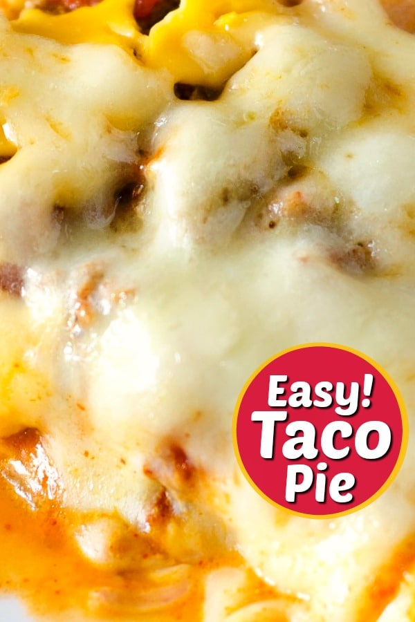 taco pie made with ground beef