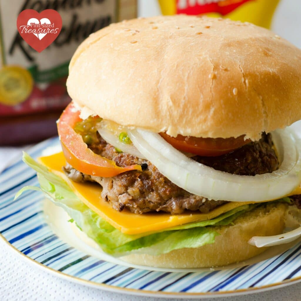 skillet burgers made with ground beef