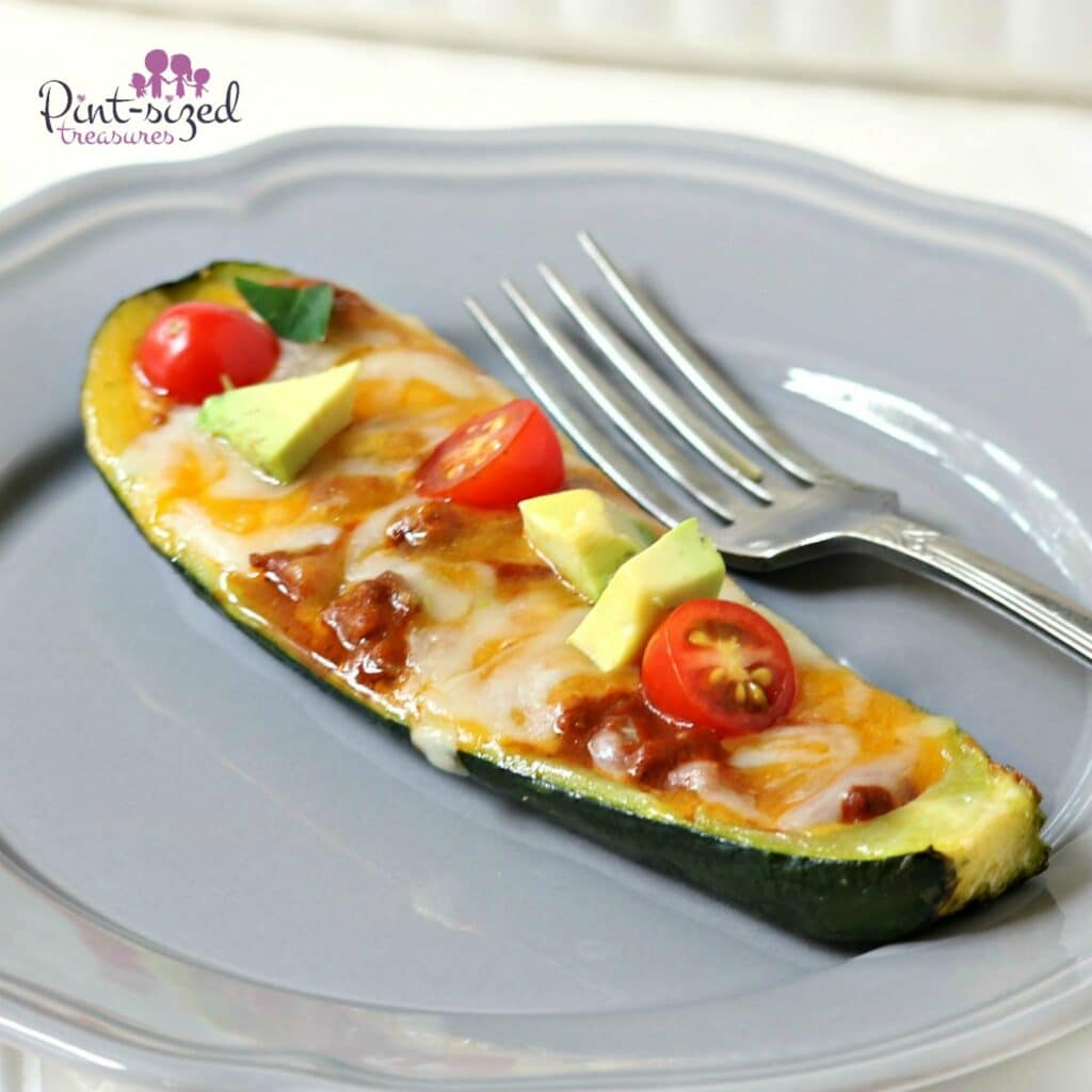 zucchini boats made with ground beef