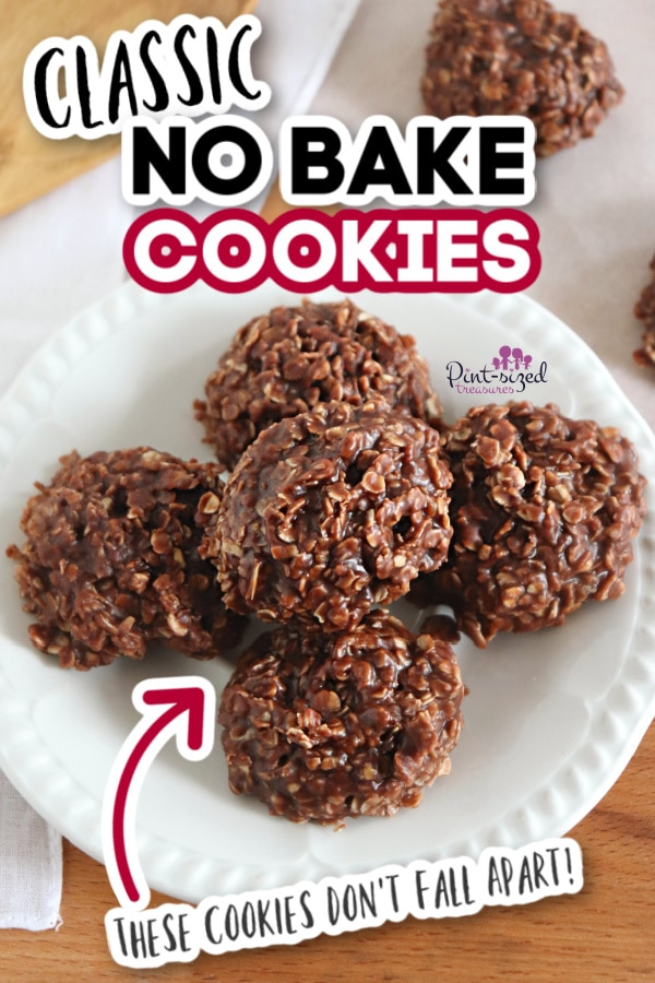 no bake cookies on plate