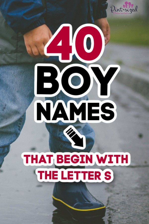 40 Boy Names that Start With S