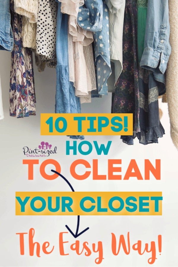finding out how to clean a closet