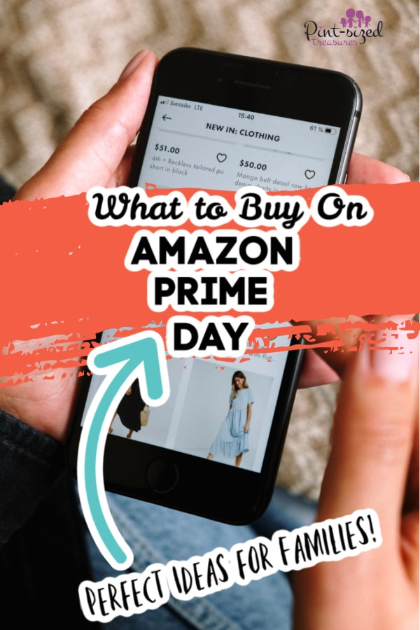 woman looking on phone for Amazon prime deals