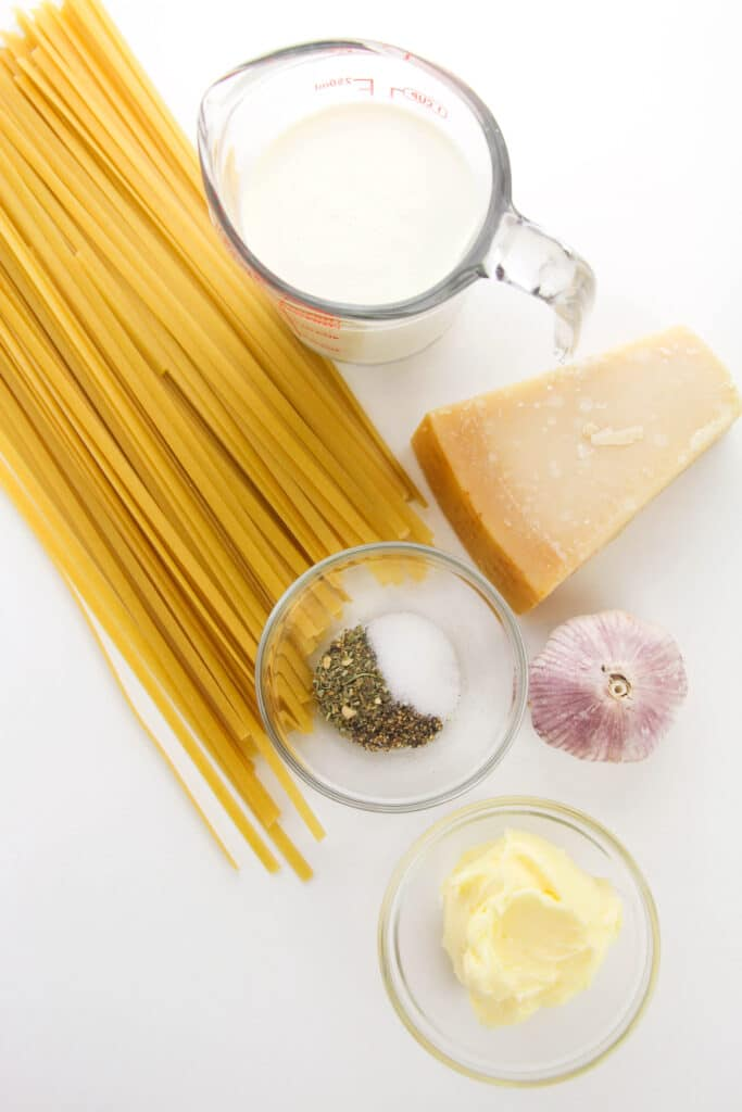 ingredients needed for Alfredo Sauce