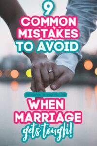 marriage mistakes to avoid