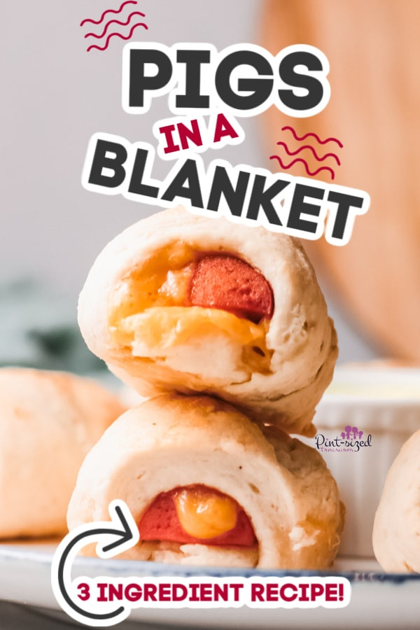 pigs in a a blanket filled with cheese
