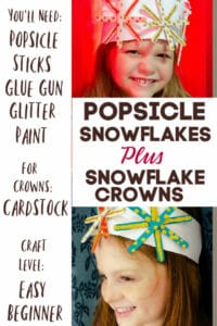 snowflakes made with popsicles