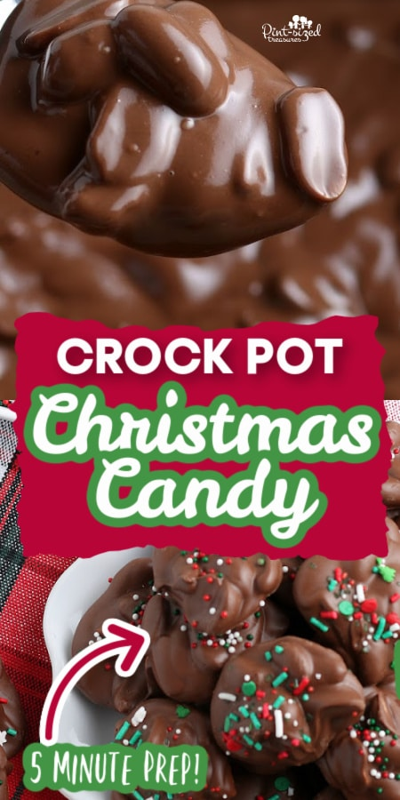 dipping out the crock pot candy