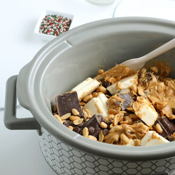 stirring ingredients for crock pot candy