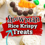 snowman rice Krispy treats recipe