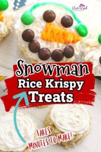 snowman rice Krispy treats recipe