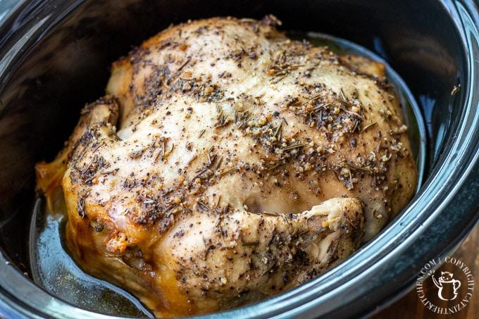 lemon pepper chicken in the slow cooker