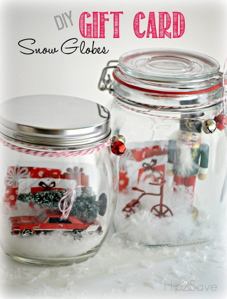 putting cash in snow globes for a creative way to give money