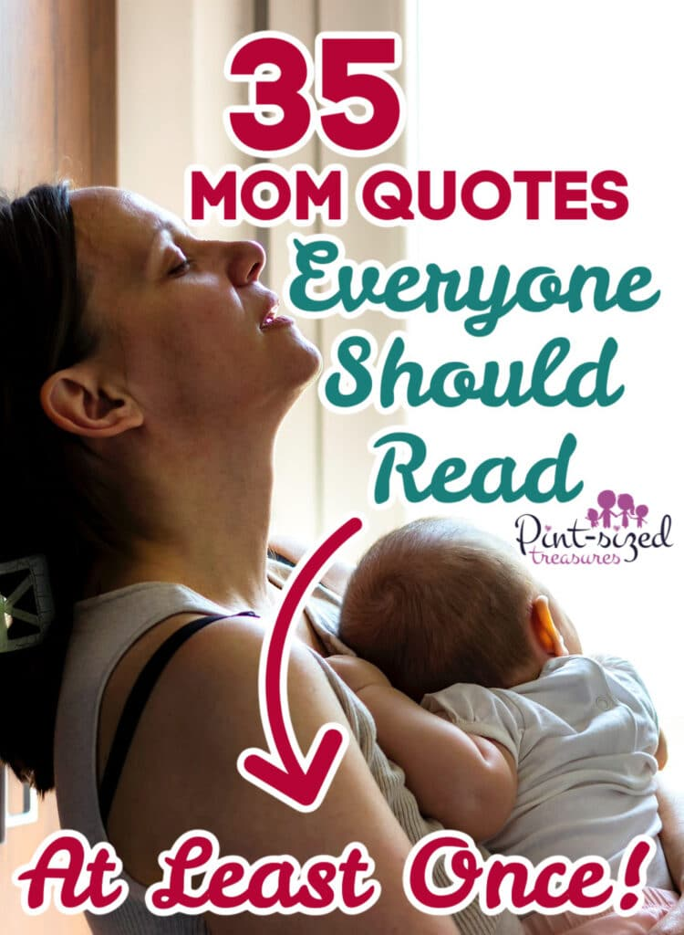 mom holding baby and crying over mom quotes