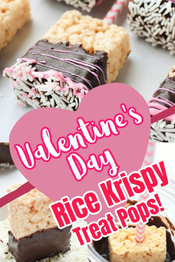 Valentine's Day Rice Krispie treats