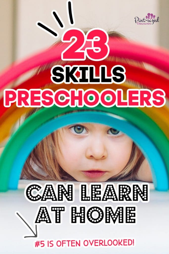 preschooler learning life skills by playing with colorful rings