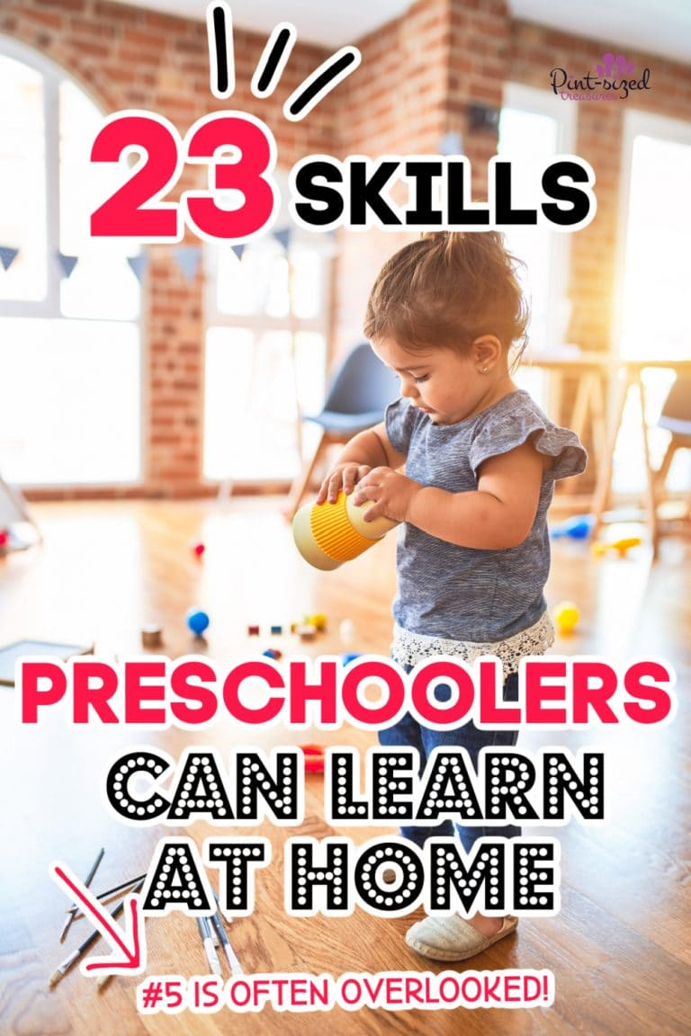 preschooler skills to learn at home