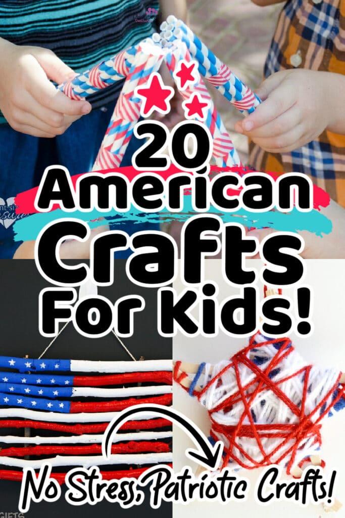 kids making american crafts