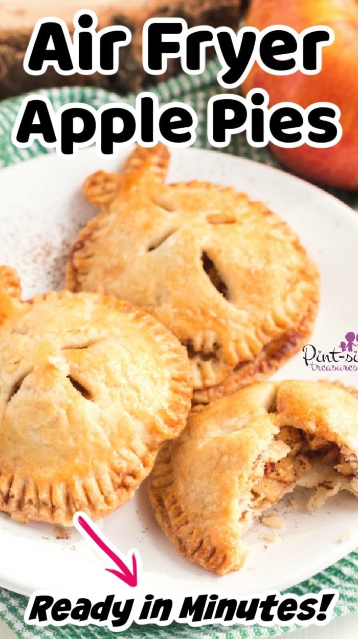 air fryer apple pies on plate