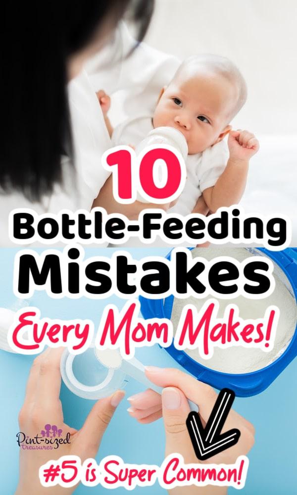 mom feeding baby a bottle