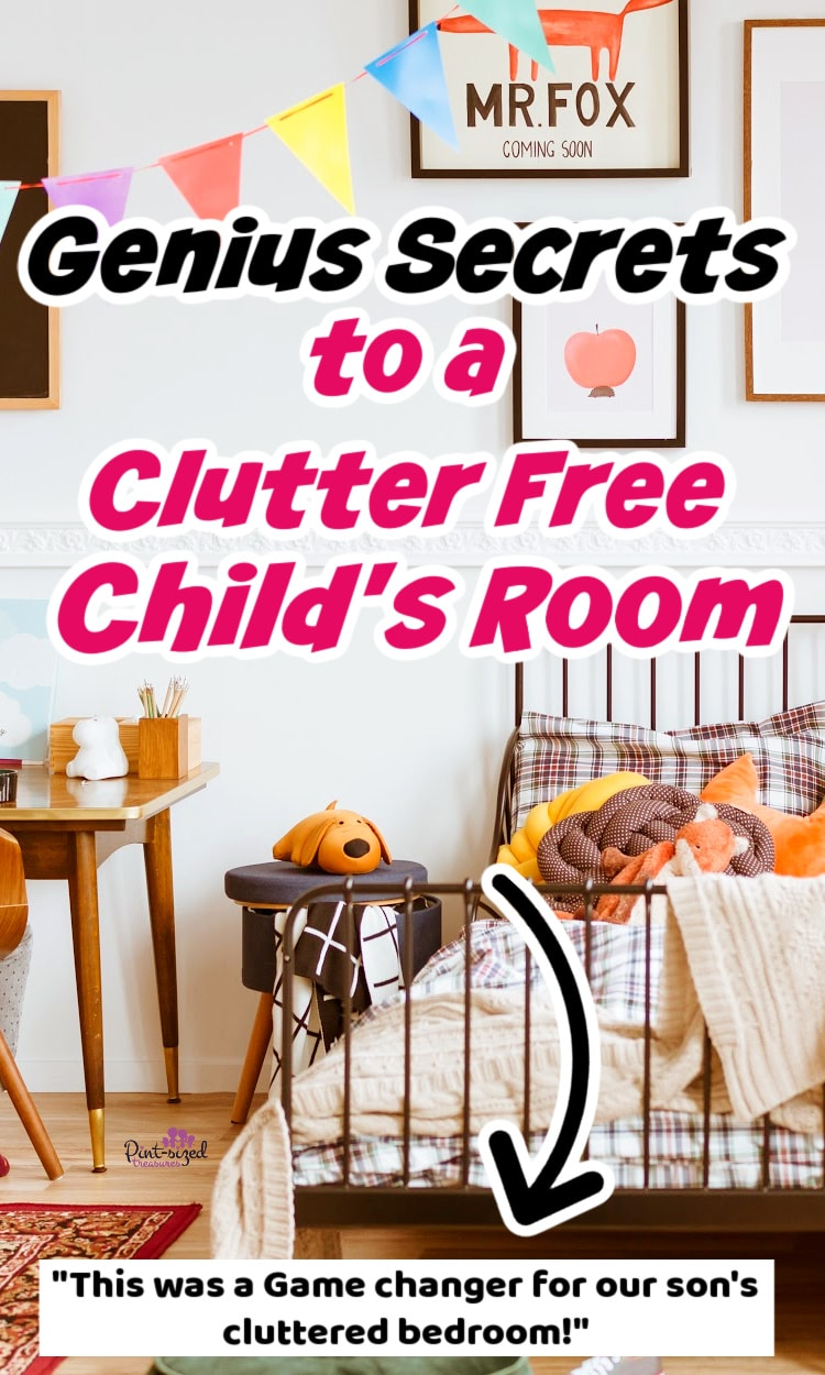 how to have a a clutter free child's bedroom