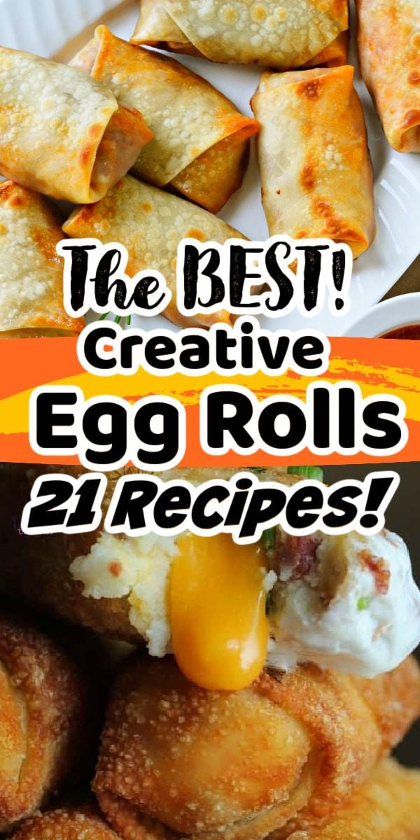 creative egg roll recipes