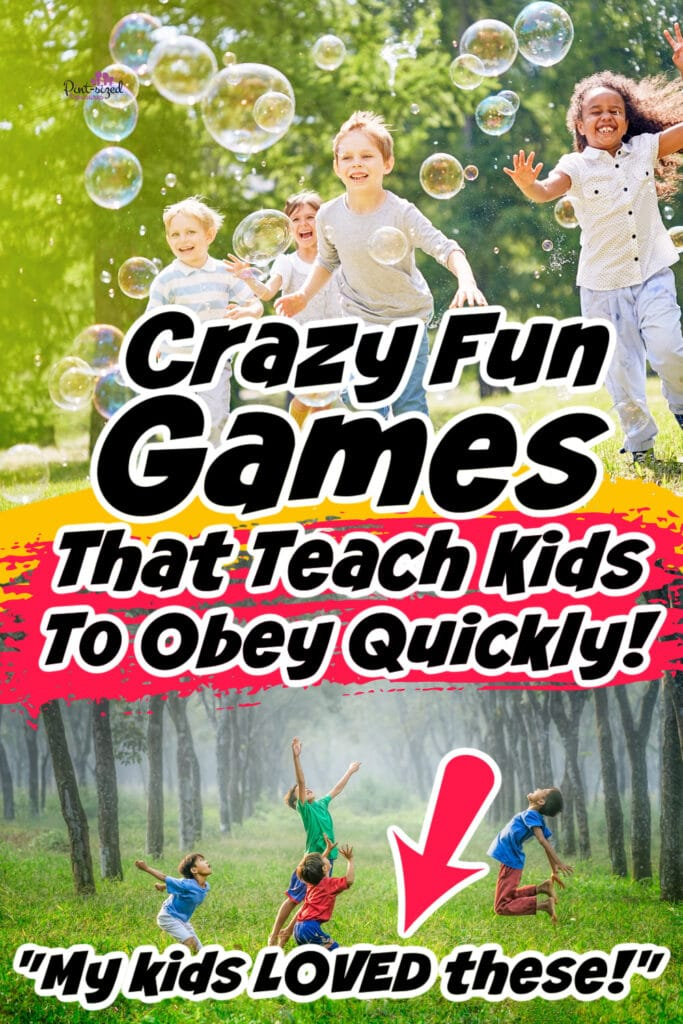 kids playing games that teach them to obey
