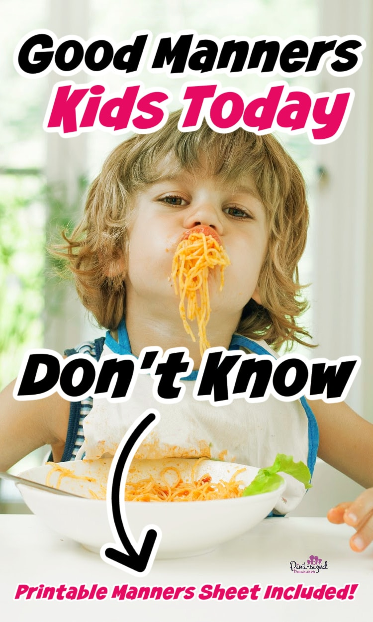 a child eating with bad manners