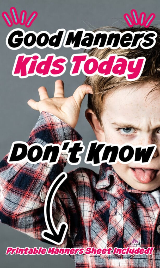 good manners in kids