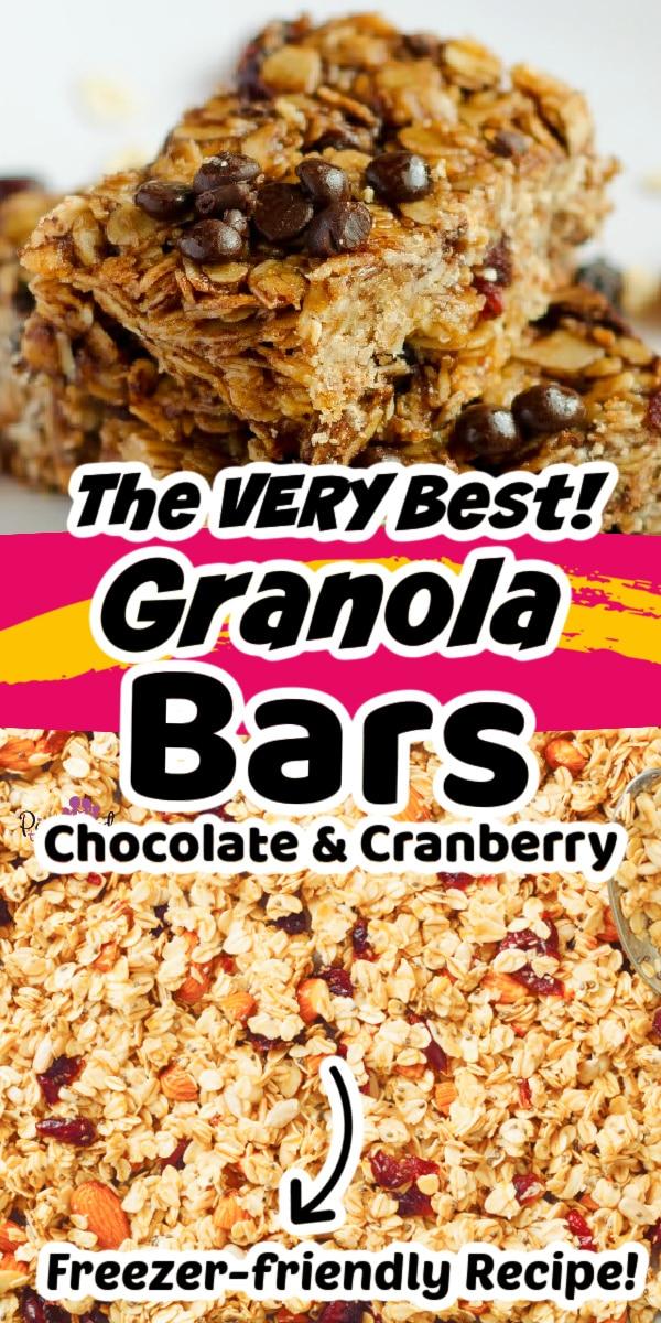 chocolate and cranberry granola bars recipe