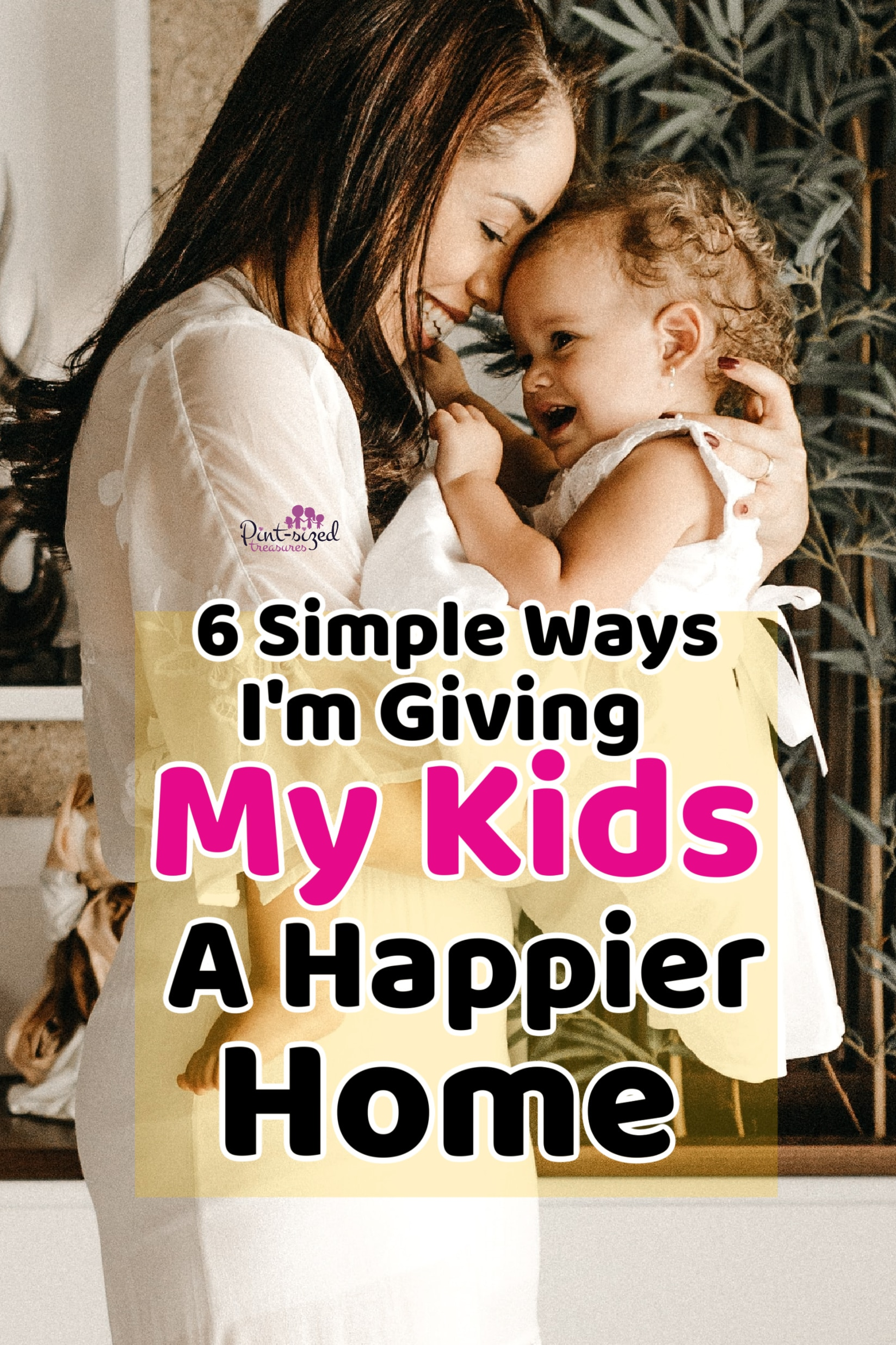 mother holding daughter in order to give her a happier home