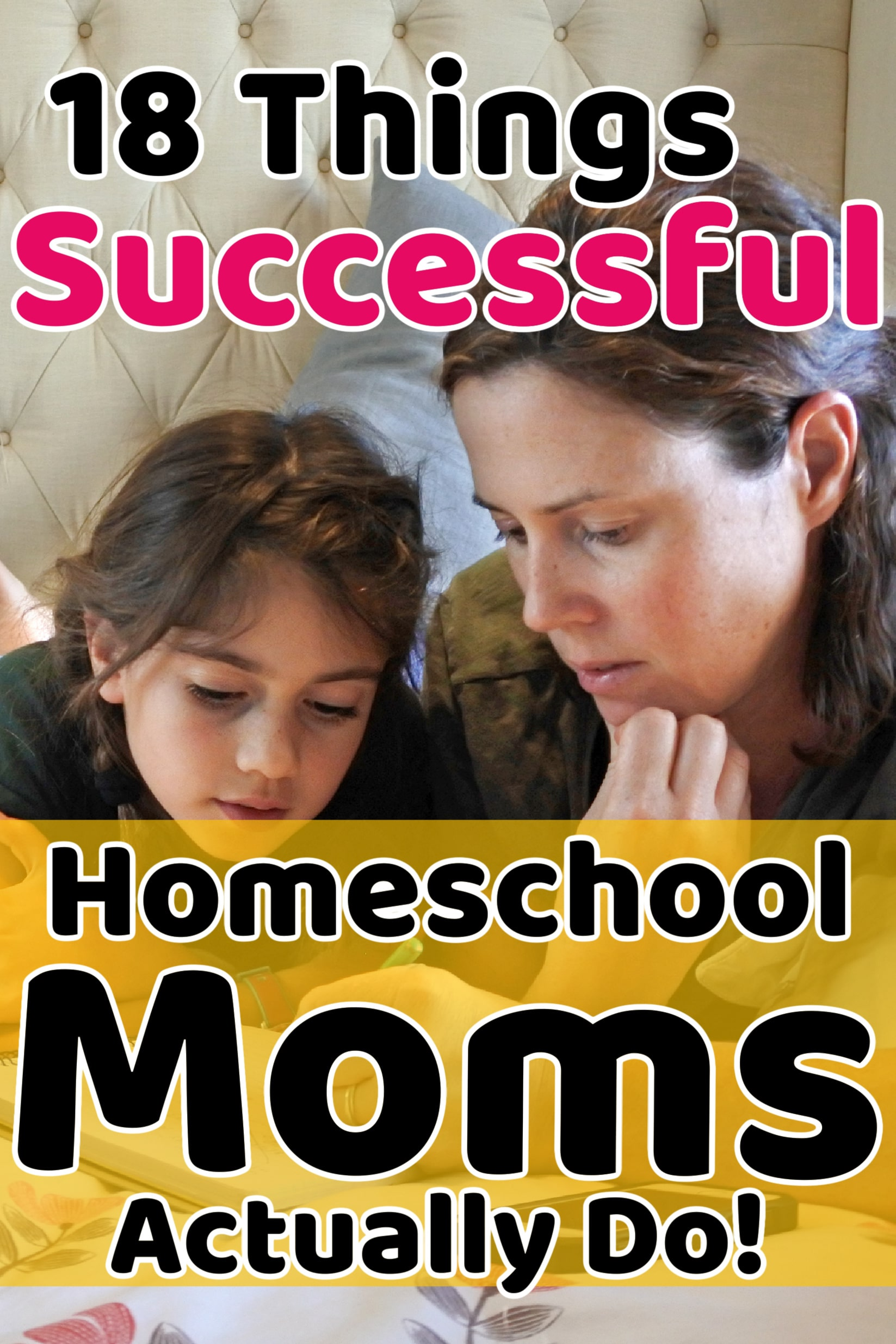 what homeschool moms do every day