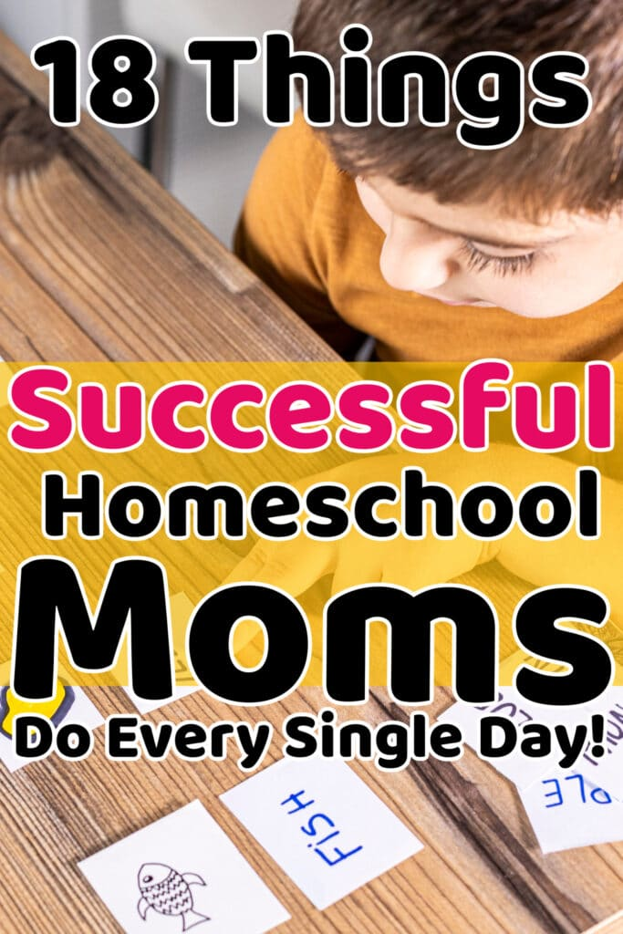 what successful homeschool moms do